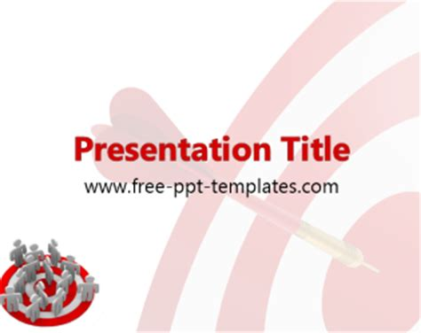 free powerpoint templates for january target market ppt template free powerpoint templates