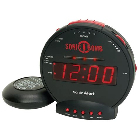 bed shaker alarm sonic bomb alarm clock with bed shaker alarm clocks and