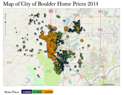 map pricing mapping boulder home sales by price and location kearney realty co
