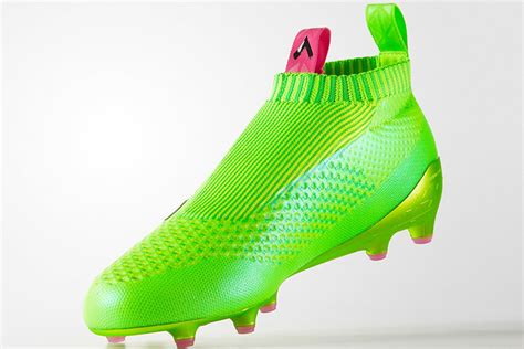 adidas sock boots laceless adidas ace 16 purecontrol solar green shock pink