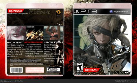 Ps3 Bd Metal Gear Rising metal gear solid rising playstation 3 box cover by