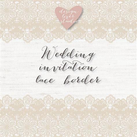 Rustic Wedding Border by Vector Lace Border Rustic Wedding Invitation Border