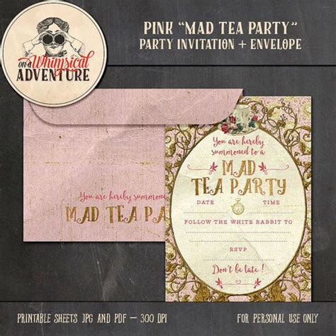 tea party bridal shower invitations for your free download