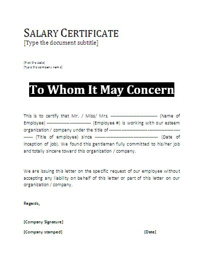 certification letter doc 9 format for salary certificate graphic resume