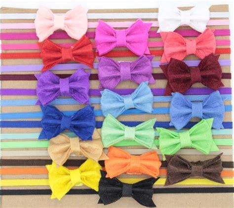 aliexpress buy 24pcs lot felt flower baby headbands felt bows hair headband hair