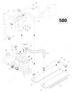 ski doo 1996 grand touring 580 cooling system 580 parts catalog