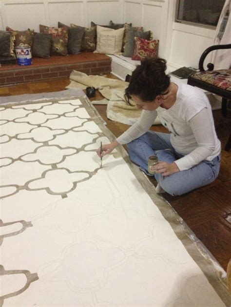 Floor Cloth by Create A Simple Summer Floor Cloth Daley Decor With