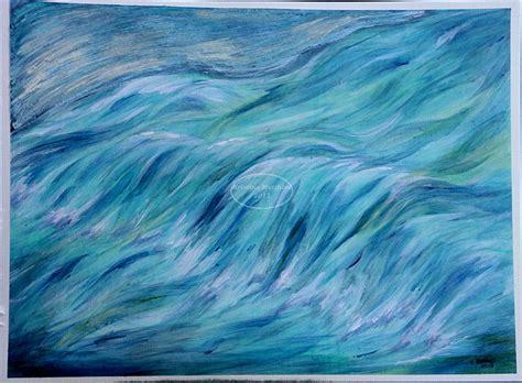 flowing paint water art girl s art world