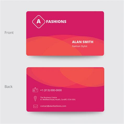 fashion design visiting cards fashion business card design design3edge com