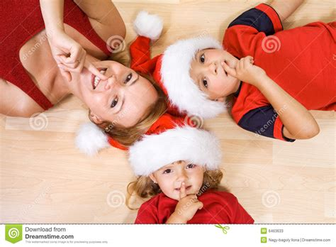 shhh santa  coming stock  image