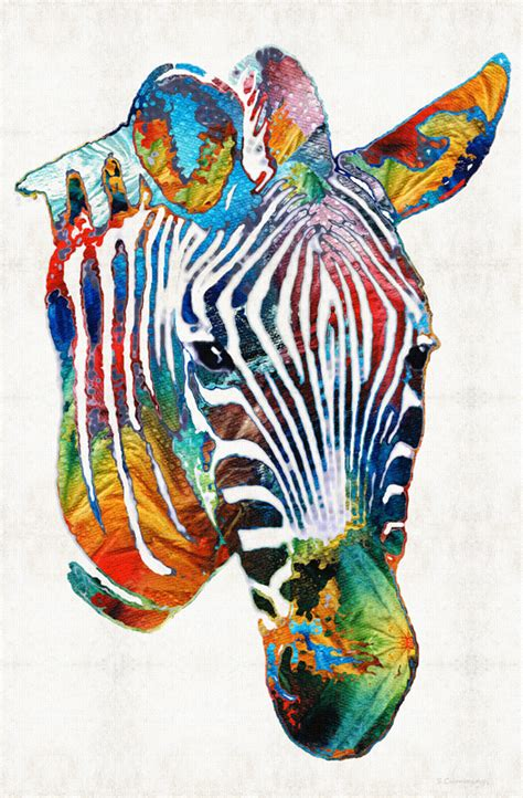 colorful zebra colorful stripey z e b r a abstract by