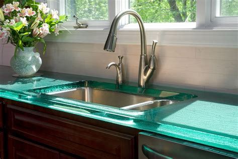 glass kitchen countertops modern kitchen countertops from materials 30 ideas