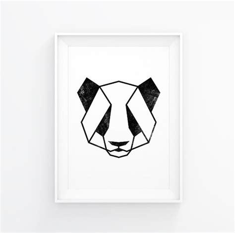 Wall Mural Printing geometric animal panda art panda print panda decal panda