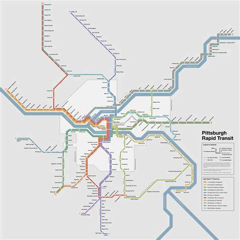 pittsburgh subway map future map pittsburgh rapid