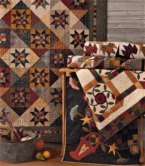 At Home With Country Quilts by Welcome To Quilt Country Creating A Rustic Look Stitch