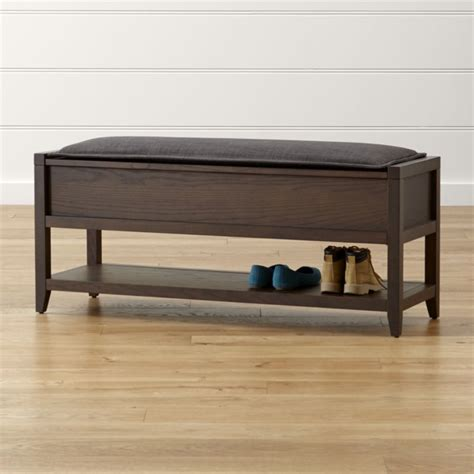 narrow bench seat cushions dearborne storage bench with grey cushion crate and barrel