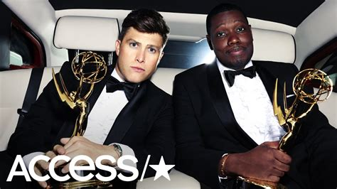 michael che emmys youtube 2018 emmy awards hosts colin jost michael che s biggest