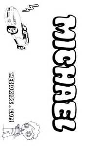 name coloring pages michael boy name to color