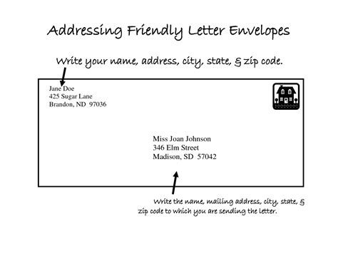 College Letter Envelope Format Format For Mailing A Letter Best Template Collection