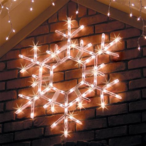 large outdoor snowflake decorations lighted snowflakes yard envy