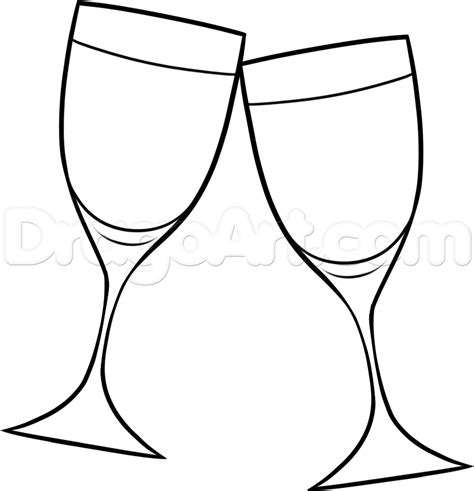 How To Draw Wine Glasses Step By Food Pop Culture FREE Online  sketch template
