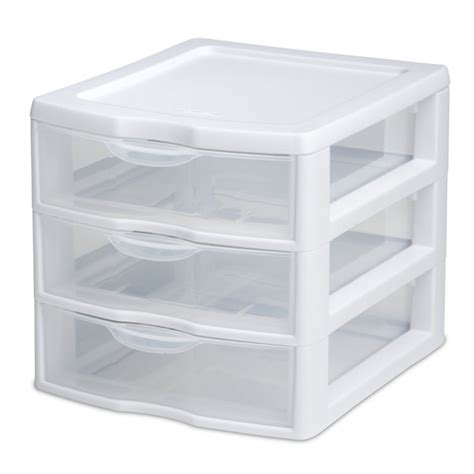 Plastic Drawers by Sterilite 3 Drawer Mini Box