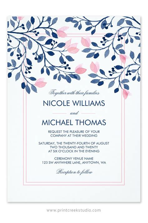 Wedding Invitation Card Paper by 40 Best Navy And Blush Wedding Images On