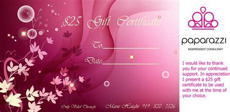 Consultants Accessorize 4 Five 5 Fashion Forward Accessories Paparazzi Gift Certificate Template