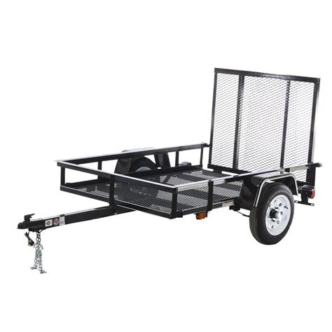 shop carry on trailer 4 ft x 6 ft wire mesh utility