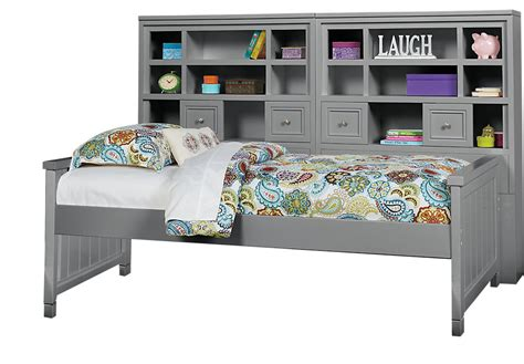 cottage colors gray 5 pc bookcase daybed beds