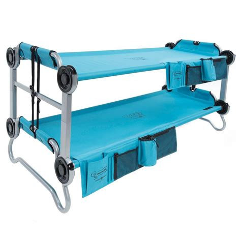disk o bed disc o bed kid o bunk 65 in teal blue bunk beds with