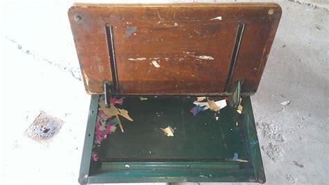 desk with lift lid restored vintage desk woodbin