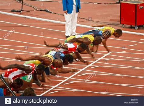 how to sprint the theory of sprint racing being a compilation of the best methods of competition and classic reprint books start of men s 100 meter sprint race where usain bolt sets