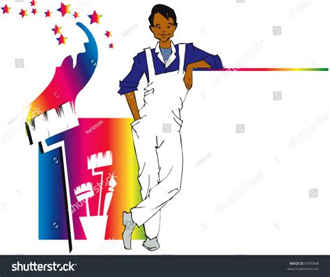 find a house painter job series house painting stock vector illustration 8705968 shutterstock