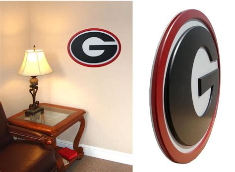 georgia bulldog home decor georgia bulldogs 31 inch wall art interiordecorating
