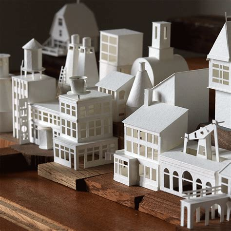 How To Make A City Out Of Paper - clever animated gifs of a city built in paper