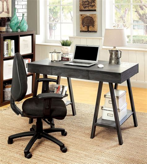 surrey gray home office set from furniture of america