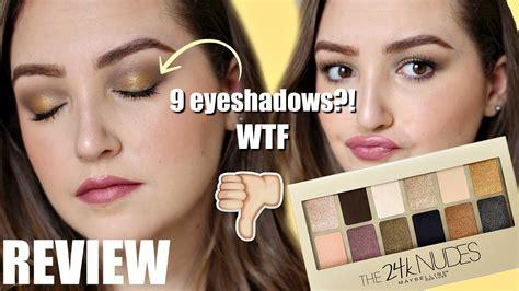 Maybelline 24k new maybelline 24k eyeshadow palette review