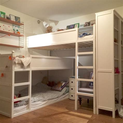 ikea kura bunk bed my kids room makeover a bunk bed for three made of two