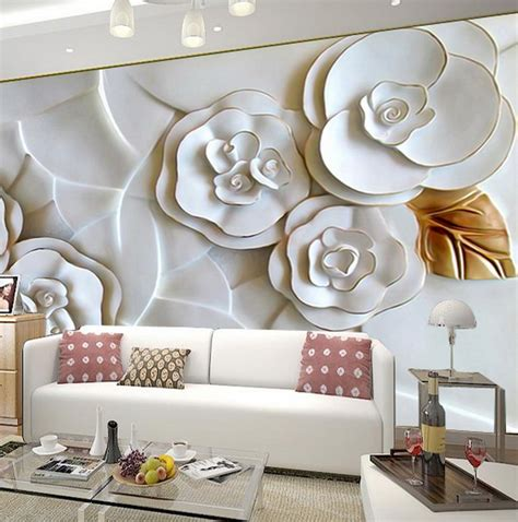 Flower Wallpaper For Living Room 3d wallpaper for living room 15 amazingly realistic ideas
