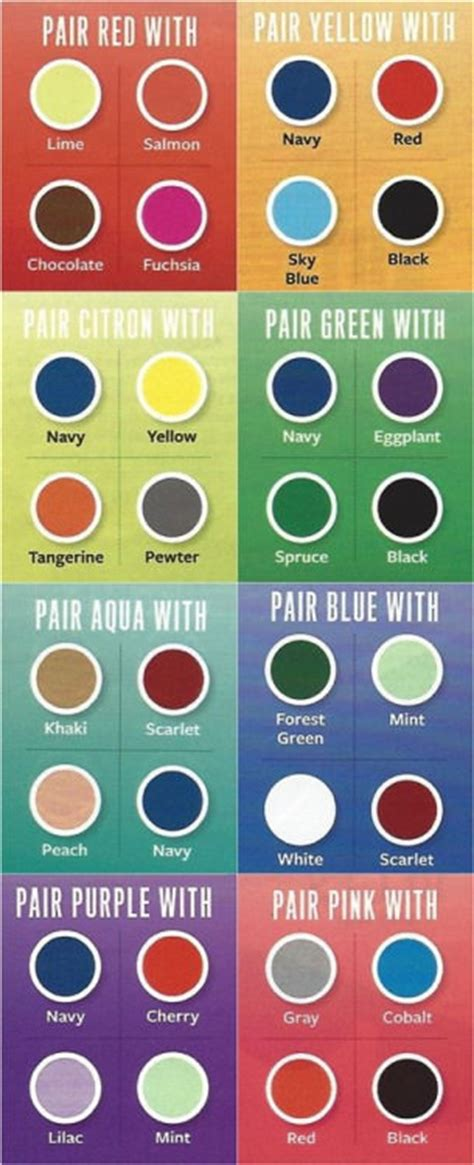 good color pairs 31 insanely useful fashion infographics for women part i