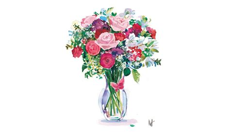 Flowers In Vase by Floral Matthew Jeanes Professional Artist