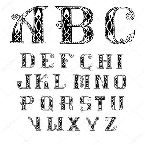 sch 246 ne keltische schriftart mit muster stockvektor