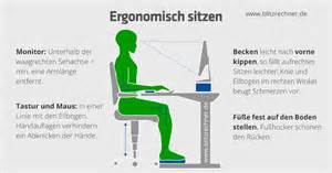 richtig am schreibtisch sitzen ergonomisch sitzen optimale h 246 he tisch stuhl berechnen