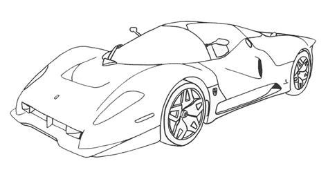 Coloriage A Dessiner Ferrari A Imprimerl
