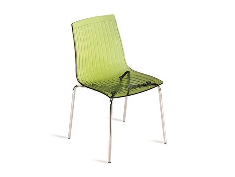 Chair City by City Stackable Translucent Chair In Green