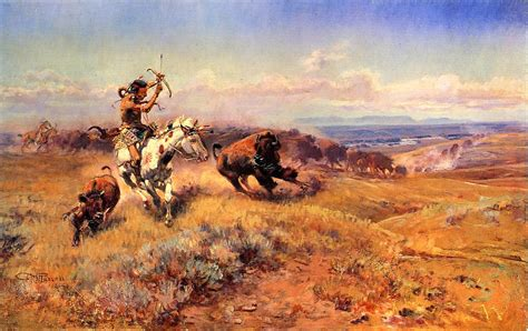 charles marion russell high quality oil painting hunting oil painting horse of the hunter fresh meat 1919