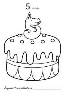 coloriage 224 imprimer anniversaire 5 ans