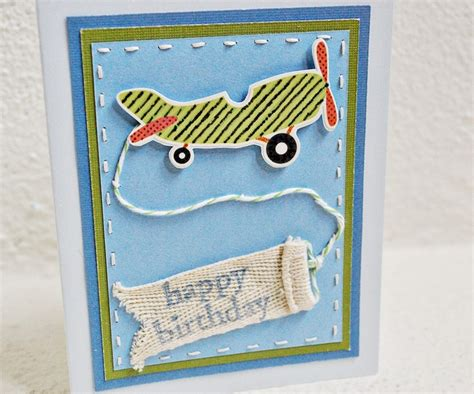 Handmade Birthday Cards For Boys - airplane birthday card birthday cards for boy