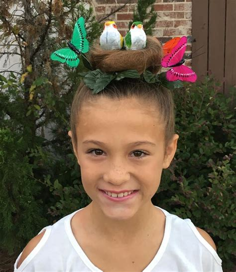crazy hairstyles images bird s nest for crazy hair day kids ideas pinterest